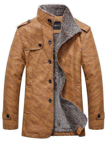 Men's Epaulet Embellished Singe Breasted Jacket