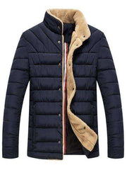 Men's Button Up Wool Quilted Jacket