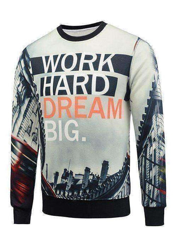 Men's Work Hard, Dream Big Sweater - The Timeless Store