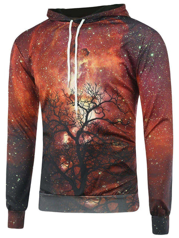Men's Galaxy Tree Hoodie