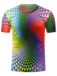 Men's 3D Geometric Pattern T-Shirt