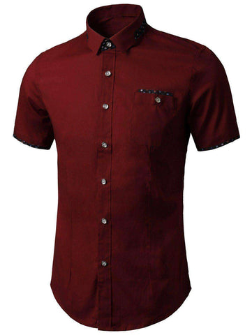 Men's Printed Panel Pocket Shirt - The Timeless Store