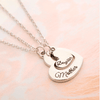 Image of Love Between Mother And Daughter Heart Shaped Pendant Necklace - Timeless Store