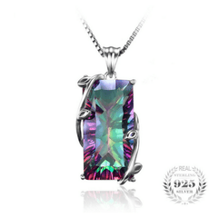 15ct Topaz Pendant Genuine 925 Sterling Silver Without a Chain - The Timeless Store