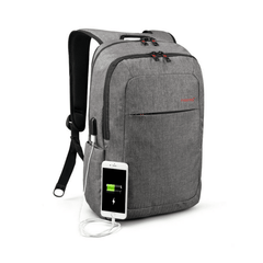 Unisex Canvas Backpack with USB Charger