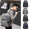 Image of Unisex Oxford Canvas Design Backpack with USB Charger