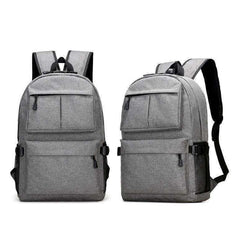 Unisex Oxford Canvas Design Backpack with USB Charger