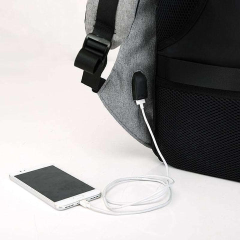 Anti Theft USB Charger Backpack