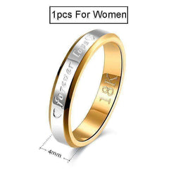 18k Gold & Silver Plated Forever Love Ring