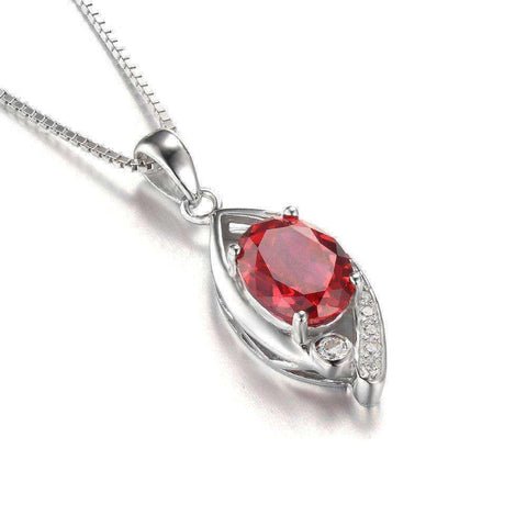 2.2ct Ruby 925 Sterling Silver Pendant Without a Chain - The Timeless Store