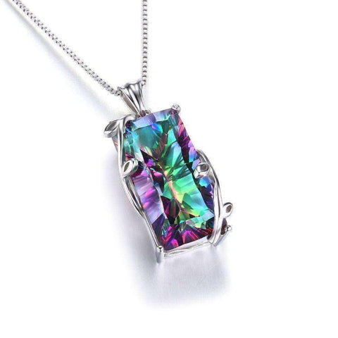 15ct Topaz Pendant Genuine 925 Sterling Silver Without a Chain