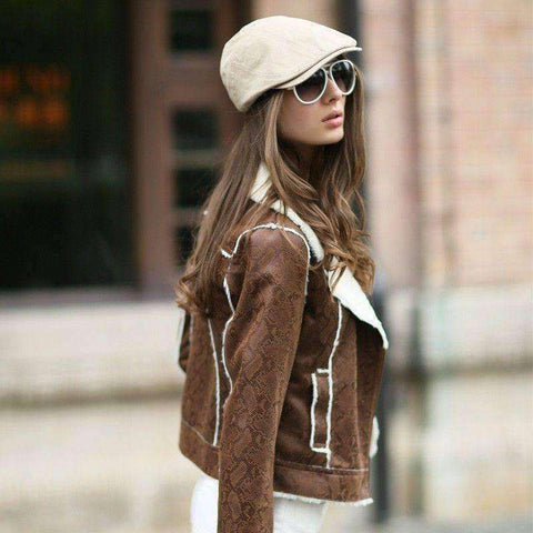 Women's Faux Leather Jacket - Timeless Store