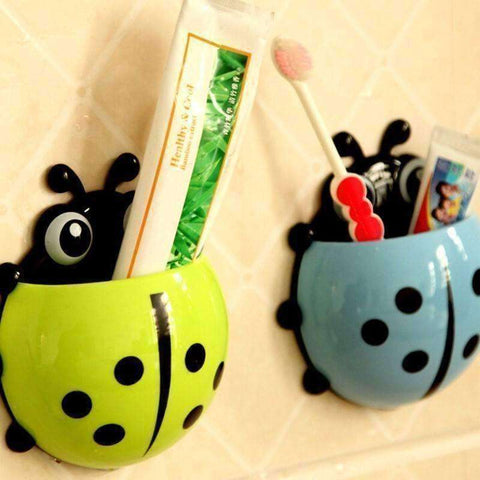 Ladybug Toothbrush Wall Suction - The Timeless Store