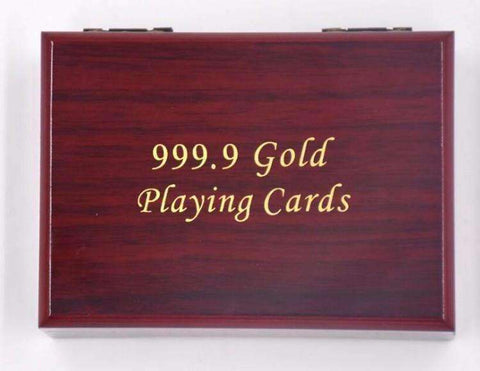 24K Gold Foil Plated Playing Cards - The Timeless Store