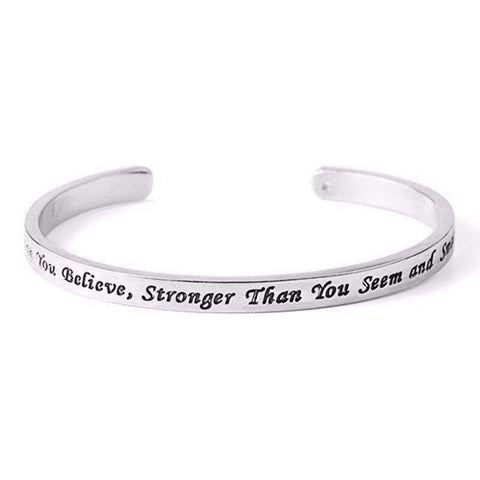 Braver, Stronger, Smarter Open Bangle - The Timeless Store