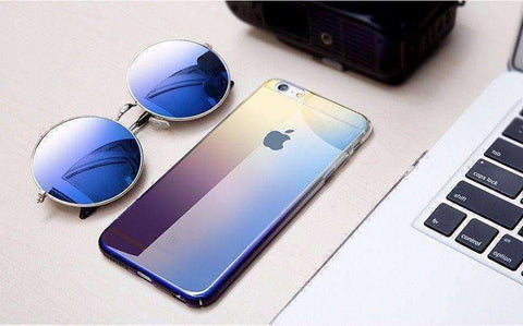 Aurora Gradient Color Transparent Case