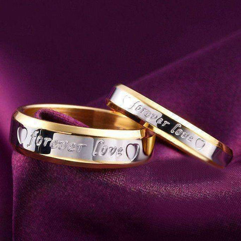 18k Gold & Silver Plated Forever Love Ring - The Timeless Store