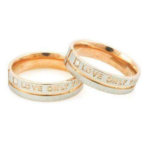 """Love Only You"" Stainless Steel Ring - The Timeless Store"