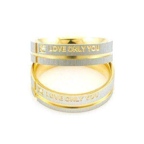 """Love Only You"" Stainless Steel Ring - Timeless Store"