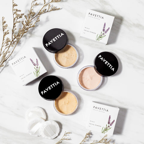 Natural Mineral Facial Powder - pavettiaskincare