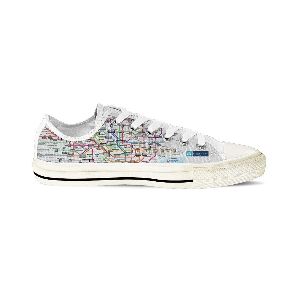 WOMEN'S TOKYO SUBWAY LOW-TOP SHOES (WHITE) - FREE SHIPPING WORLDWIDE