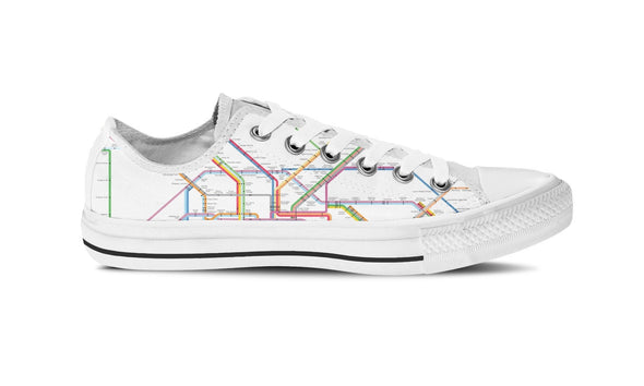 WOMEN'S NYC SUBWAY LOW-TOP SHOES (WHITE) - FREE SHIPPING WORLDWIDE