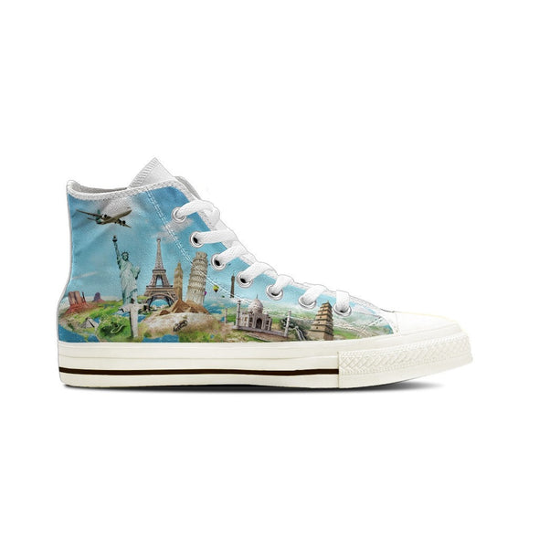 WOMEN'S WORLD TRAVEL HIGH-TOP SHOES (WHITE) - FREE SHIPPING WORLDWIDE