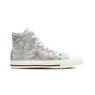 WOMEN'S PARIS SUBWAY HIGH-TOP SHOES (WHITE) - FREE SHIPPING WORLDWIDE