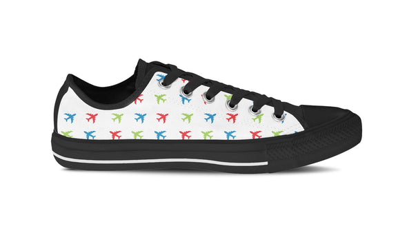 WOMEN'S AIRPLANE LOW-TOP SHOES (BLACK) - FREE SHIPPING WORLDWIDE