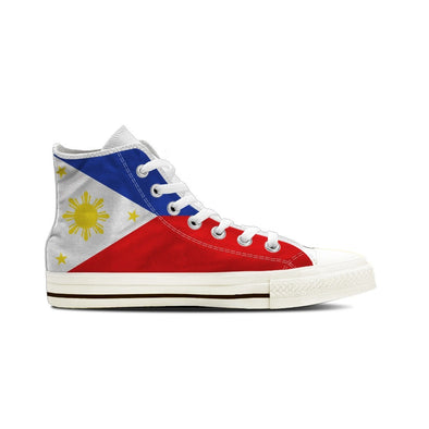 MEN'S PHILIPPINES HIGH-TOP SHOES (WHITE) - FREE SHIPPING WORLDWIDE