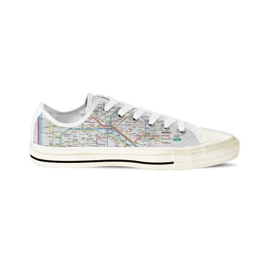 WOMEN'S PARIS SUBWAY LOW-TOP SHOES (WHITE) - FREE SHIPPING WORLDWIDE