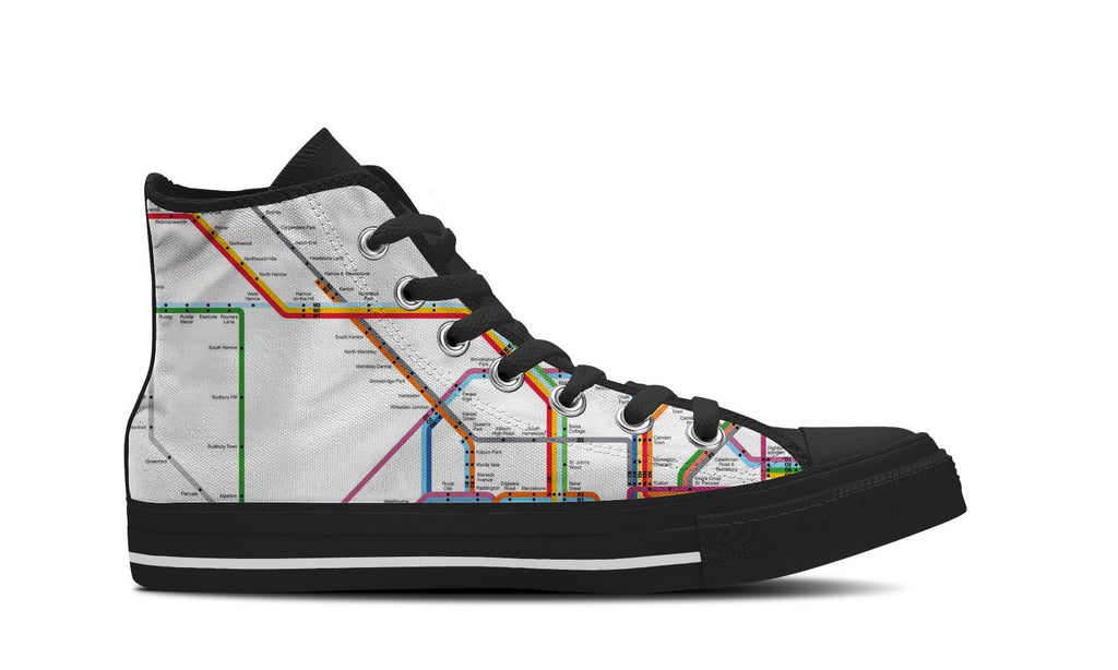 MEN'S NYC SUBWAY HIGH-TOP SHOES (BLACK) - FREE SHIPPING WORLDWIDE