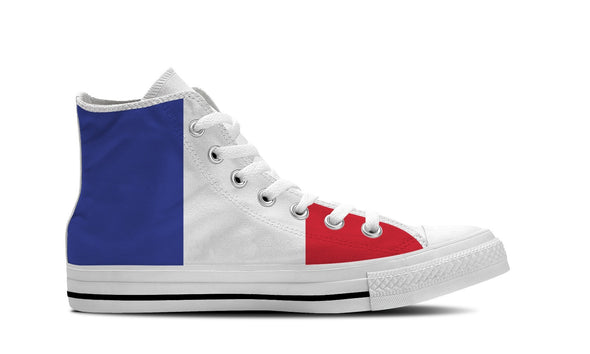 MEN'S FRANCE HIGH-TOP SHOES (WHITE) - FREE SHIPPING WORLDWIDE