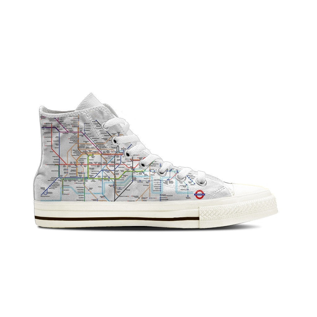 WOMEN'S LONDON SUBWAY HIGH-TOP SHOES (WHITE) - FREE SHIPPING WORLDWIDE