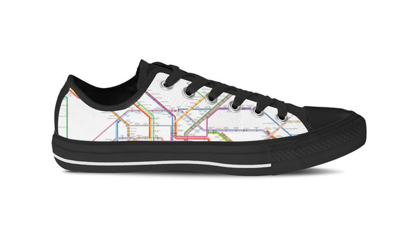 WOMEN'S NYC SUBWAY LOW-TOP SHOES (BLACK) - FREE SHIPPING WORLDWIDE