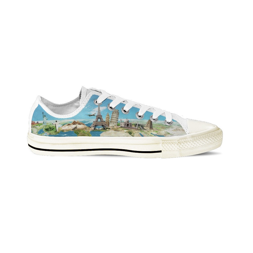 MEN'S WORLD TRAVEL LOW-TOP SHOES (WHITE) - FREE SHIPPING WORLDWIDE