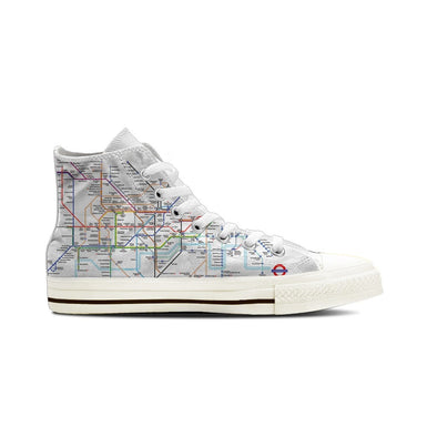 MEN'S LONDON SUBWAY HIGH-TOP SHOES (WHITE) - FREE SHIPPING WORLDWIDE