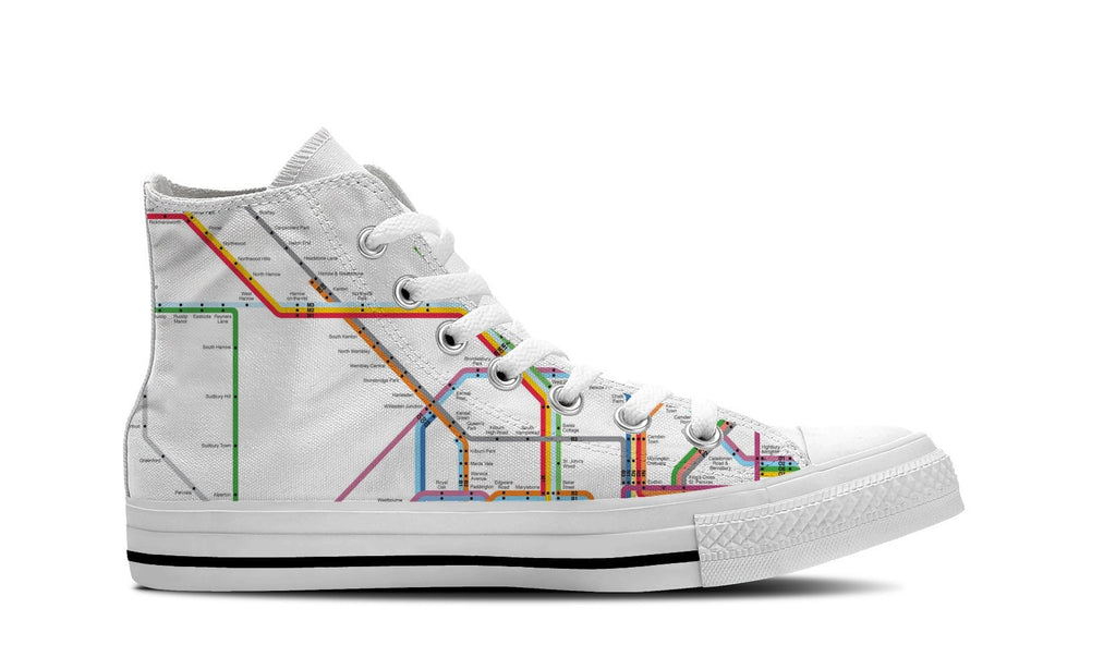 WOMEN'S NYC SUBWAY HIGH-TOP SHOES (WHITE) - FREE SHIPPING WORLDWIDE