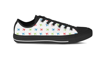 MEN'S AIRPLANE LOW-TOP SHOES (BLACK) - FREE SHIPPING WORLDWIDE