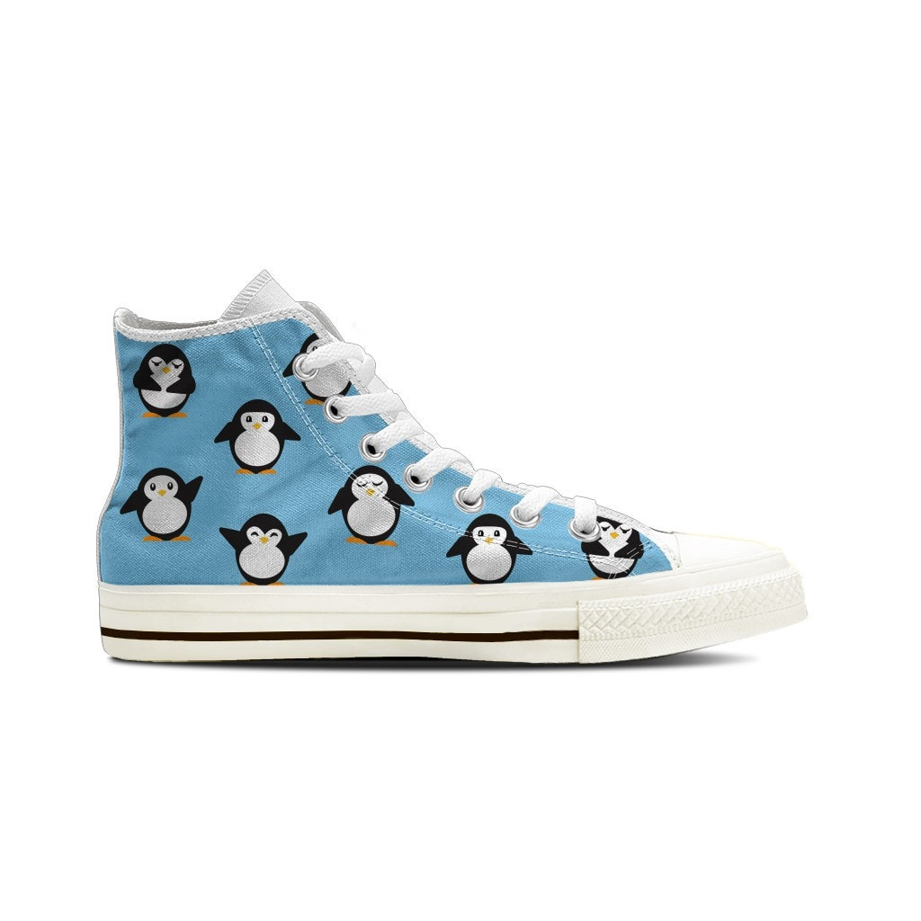 WOMEN'S PENGUIN HIGH-TOP SHOES (WHITE) - FREE SHIPPING WORLDWIDE