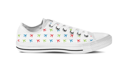 MEN'S AIRPLANE LOW-TOP SHOES (WHITE) - FREE SHIPPING WORLDWIDE