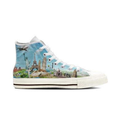MEN'S WORLD TRAVEL HIGH-TOP SHOES (WHITE) - FREE SHIPPING WORLDWIDE