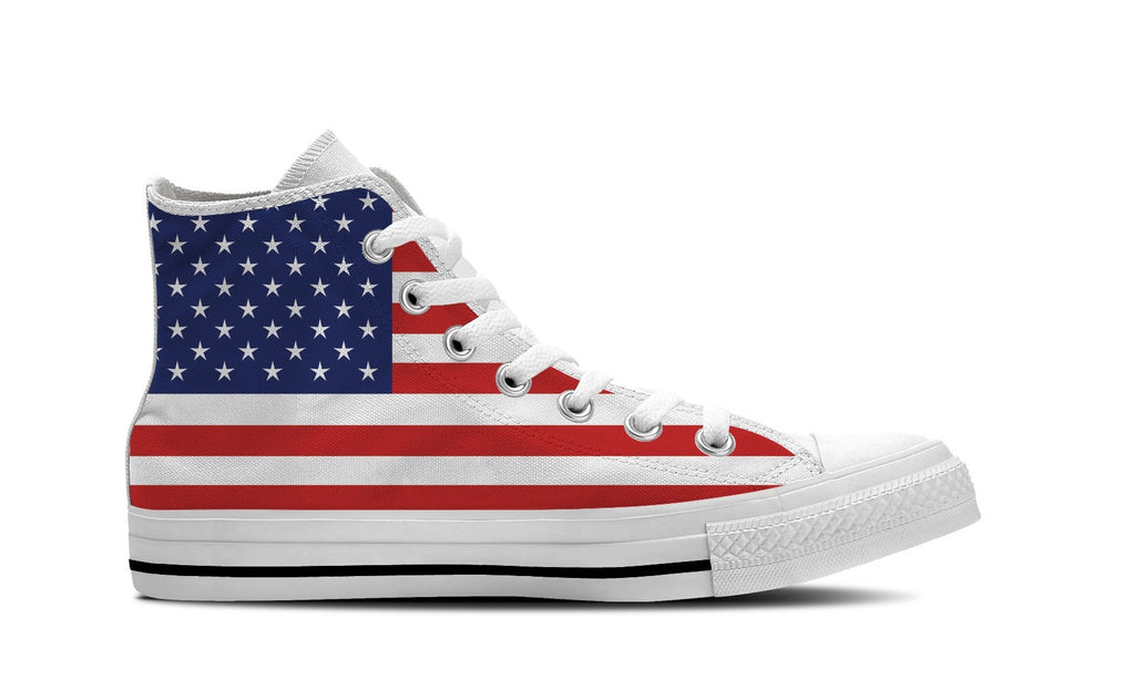 WOMEN'S UNITED STATES HIGH-TOP SHOES (WHITE) - FREE SHIPPING WORLDWIDE