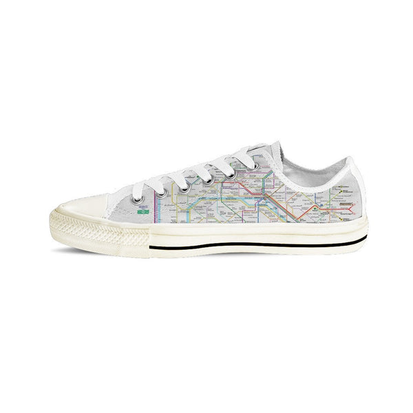 MEN'S PARIS SUBWAY LOW-TOP SHOES (WHITE) - FREE SHIPPING WORLDWIDE