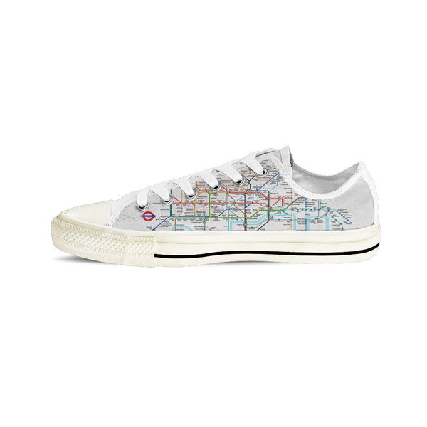 MEN'S LONDON SUBWAY LOW-TOP SHOES (WHITE) - FREE SHIPPING WORLDWIDE