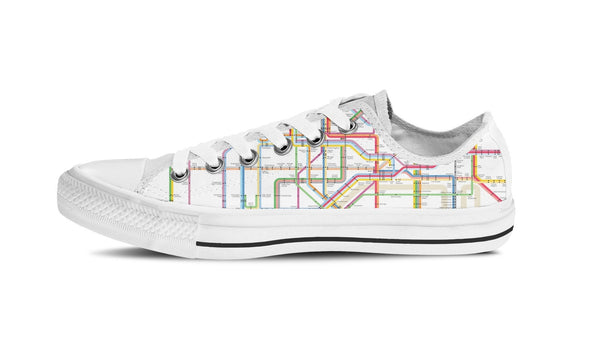 MEN'S NYC SUBWAY LOW-TOP SHOES (WHITE) - FREE SHIPPING WORLDWIDE