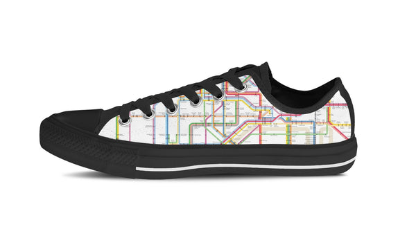 MEN'S NYC SUBWAY LOW-TOP SHOES (BLACK) - FREE SHIPPING WORLDWIDE