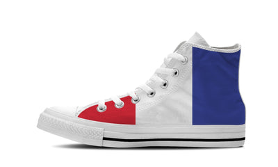 WOMEN'S FRANCE HIGH-TOP SHOES (WHITE) - FREE SHIPPING WORLDWIDE