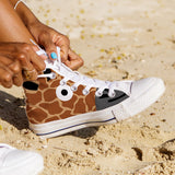 WOMEN'S GIRAFFE FACE HIGH-TOP SHOES (WHITE) - FREE SHIPPING WORLDWIDE