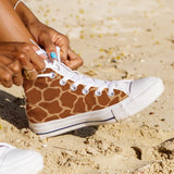 WOMEN'S GIRAFFE HIGH-TOP SHOES (WHITE) - FREE SHIPPING WORLDWIDE